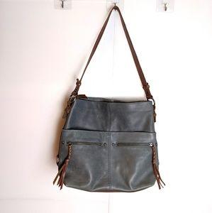 The Sak Ashland Leather Bucket Bag Slate